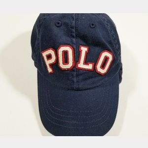 Ralph Lauren Spell Out Polo Cap Hat USA Flag Pony